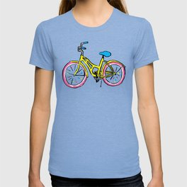 Pastel Primary Bicycle T-shirt