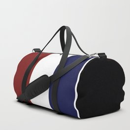 Team Colors 8....Maroon , navy and white Duffle Bag