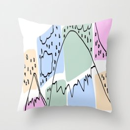 Which Mountain Throw Pillow