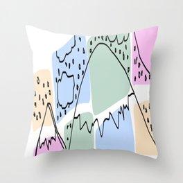 Which Mountain Throw Pillow