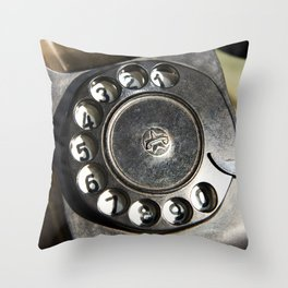 Retro rotary dial telephone Throw Pillow