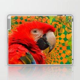 MODERN ART RED MACAW GREEN JUNGLE PATTERNED DESIGN Laptop & iPad Skin