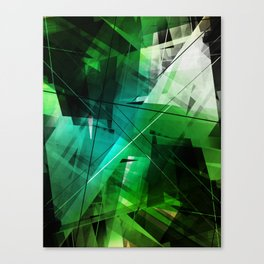 Jungle - Geometric Abstract Art Canvas Print