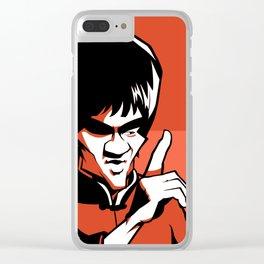 Kung fu master orange Clear iPhone Case