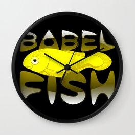 Babel fish Wall Clock