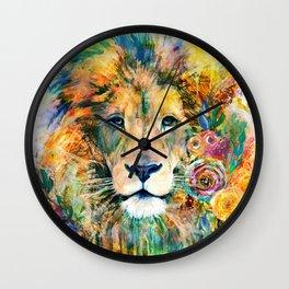 Garden of the Wild ~ LION Wall Clock
