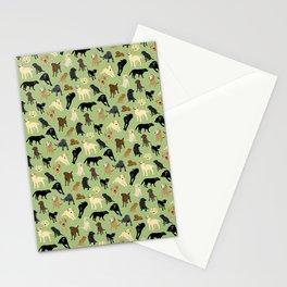 Lotsa Labs on Sage Green Stationery Cards