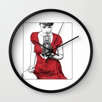 apollonia Wall Clocks featuring asc 165 - Le regard inversé (d'après zzitlali) by From Apollonia with Love