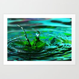 Shock - Emotions Water Drop Photography Art Print