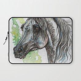 Grey Arabian horse Laptop Sleeve