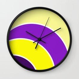 Purple & Gold Circles Wall Clock