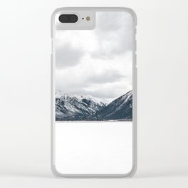 Snow Mountains, Minimalist Clear iPhone Case