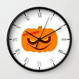 Nasty Pumpkin Wall Clock