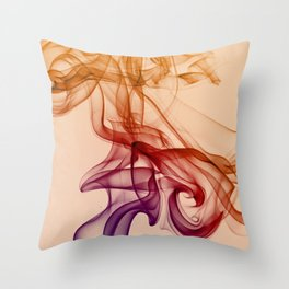 Smoke composition in pastel tones Throw Pillow