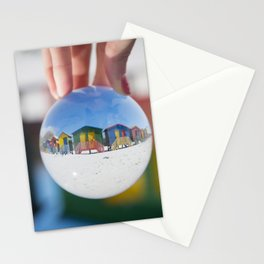 Changing Rooms at the Beach Stationery Cards