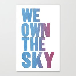 We Own The Sky Canvas Print