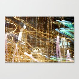LIGHT ABSTRACT 3: Wrigley Building, Downtown Chicago Canvas Print