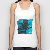 swimming Tank Tops featuring Swimming Palm by Catspaws