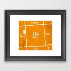 This is SF (burn) Framed Art Print