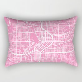 Atlanta map pink Rectangular Pillow