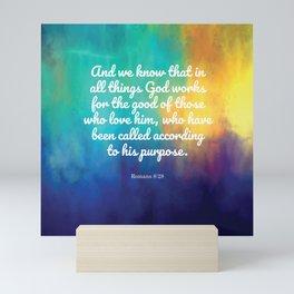 Romans 8:28, Encouraging Scripture Mini Art Print