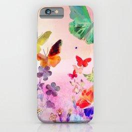 Blush Butterflies & Flowers iPhone Case