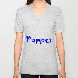 Puppet Blue Unisex V-Neck