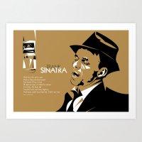 frank sinatra Art Prints featuring FRANK SINATRA POSTER by Paweł Kamiński (pawjanka)