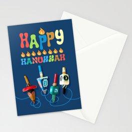 Happy Hanukkah Dreidels Stationery Cards
