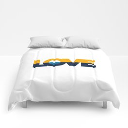 LOVE - People's Flag of Milwaukee Comforters