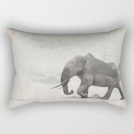 Rocky Elephant Rectangular Pillow