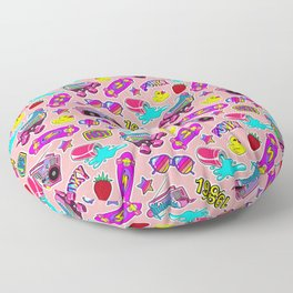 Back to the nineties! Peach Floor Pillow