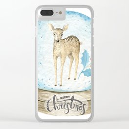 Christmas deer #2 Clear iPhone Case