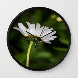 Flower in the rain Wall Clock
