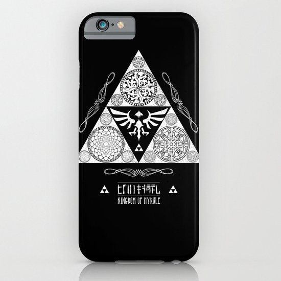 Legend of Zelda Kingdom of Hyrule Crest Letterpress Vector Art iPhone & iPod Case
