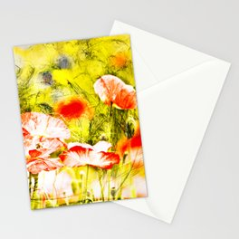 Wild poppy abstract. Stationery Cards