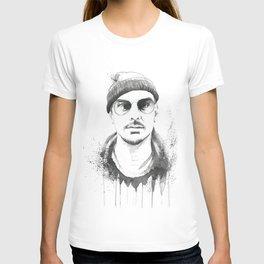 Shannon Leto Watercolor Black & White T-shirt