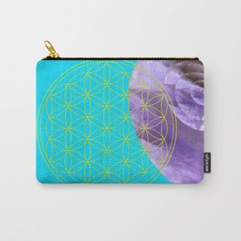 Mystical Flower of Life Amethyst #society6 Carry-All Pouch