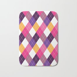 Pink & Purple Argyle Bath Mat