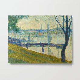 Bridge at Courbevoie Georges Seurat - 1886-1887 Impressionism Modern Pointillism Oil painting Metal Print