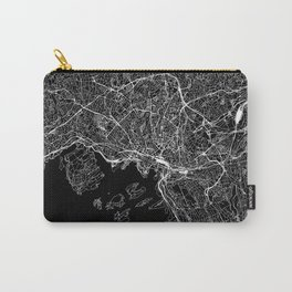 Oslo Black Map Carry-All Pouch