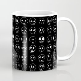 Cute Emoji Skulls Coffee Mug