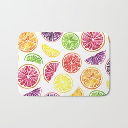 Citrus Wheels Bath Mat