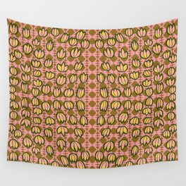 Three Point Flowers Roses Wall Tapestry