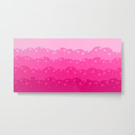 red and pink colourful bubble digital pattern illustration Metal Print