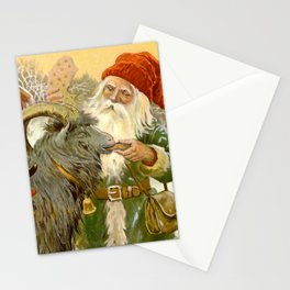 """""""The Sled Goat"""" by Jenny Nystrom Stationery Cards"""