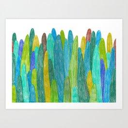 Green Trees and hills Art Print