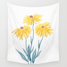 three yellow flowers Wall Tapestry