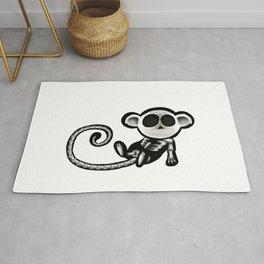 Skeleton monkey Rug