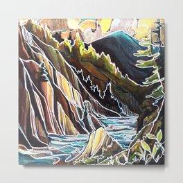 Creek Canyons, British Columbia Metal Print